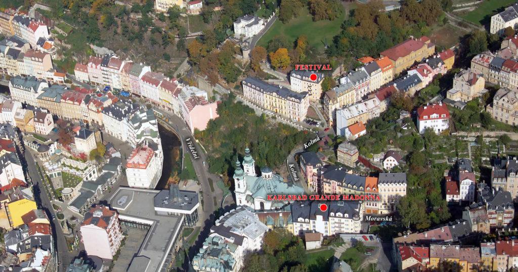 KGM Festival Karlovy Vary letecký snímek